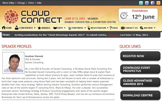 Saviant @ India\'s Largest Cloud Conference