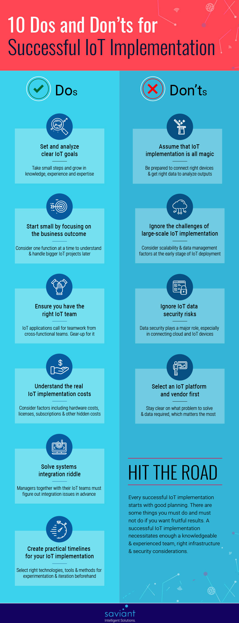 dos donts for successful iot implementation infographic