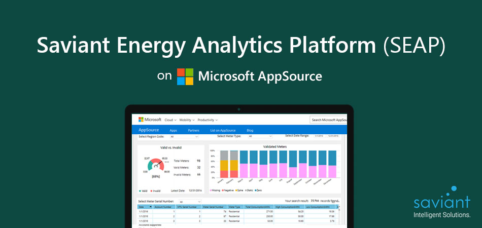 Microsoft recognizes Saviant's Utility Industry solution to spot at AppSource