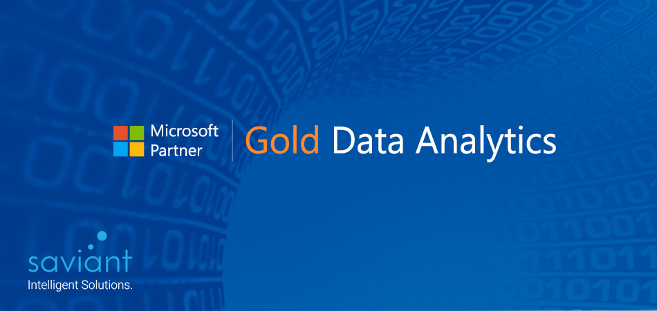 Saviant is now a Microsoft Gold Partner for Data Analytics