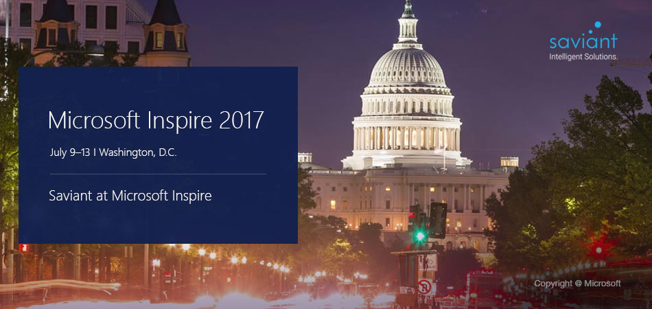 Saviant's leadership suit-up for Microsoft Inspire 2017