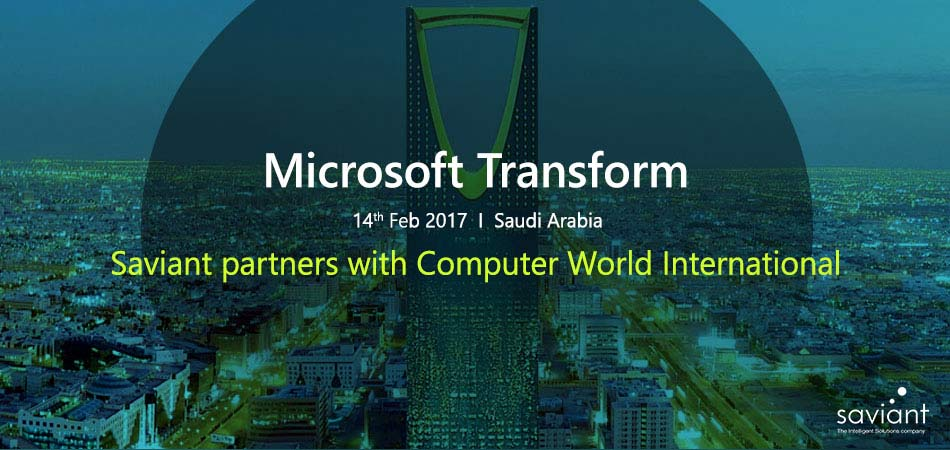 Microsoft Tranform - Saviant partners with Computer World