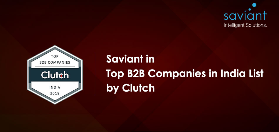 Saviant top performing company by clutch
