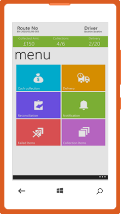 Enterpise mobile windows application